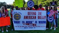 UAW Workers protest Right to Work Legislation